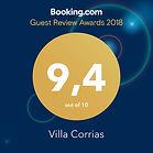 Guest Review Awards Villa Corrias 2018