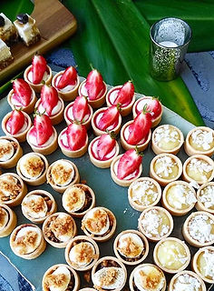 Selection of mini tarts,  smore,  strawb