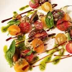 burrata and cherry tomato salad