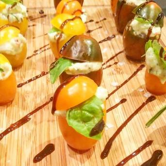 Mozzerella stuffed cherry tomatoes