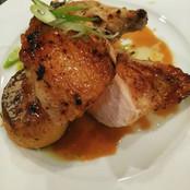 Chicken breast w fondant potato