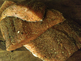 Morocan spiced smoked salmon