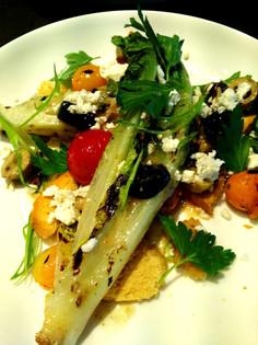 Charred romain salad
