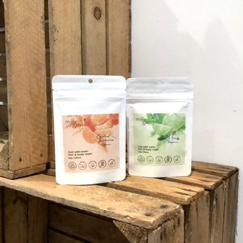 Milly & Sissy - Hair & Body Washes Refill Pouches