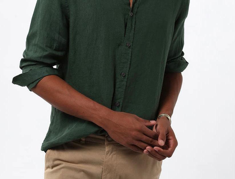 Camisa 100% Linho Tinturado Zapalla