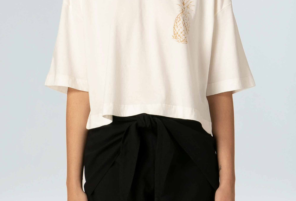 T-Shirt Cropped Abacaxi Gold