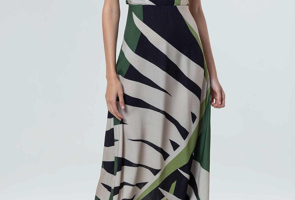 Vestido Osklen Tropi Green Evasê
