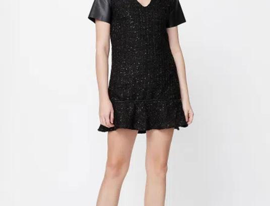 Vestido Saia Enviesada Tweed - FYI