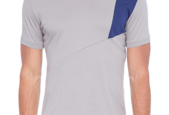 Camiseta Pima Recorte Ombro Bicolor Ricardo Almeida