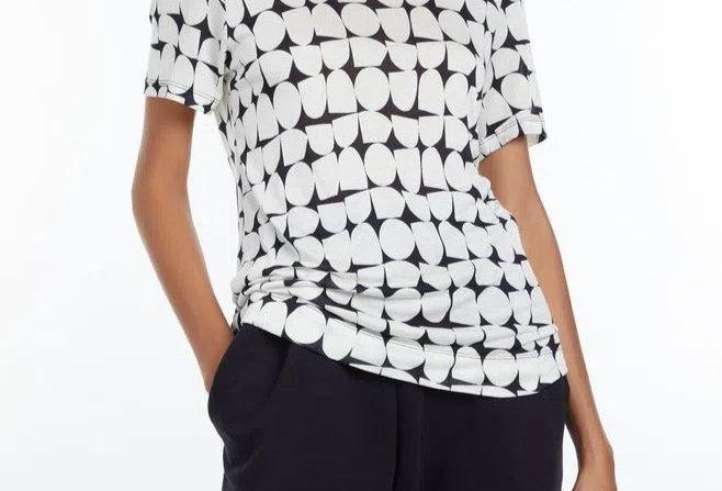 T-shirt de Malha Estampada Decote Redondo e Manga Curta Animale