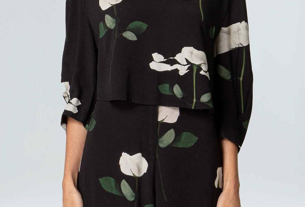 Blusa Feminina Crop Rose Glitch - Osklen