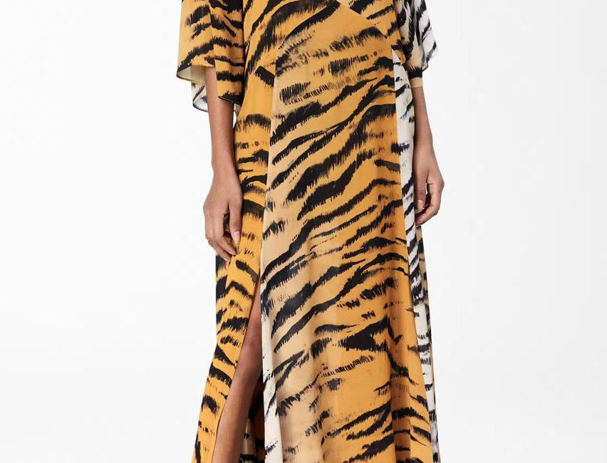 Vestido Mago Montanhas Tigre Animale