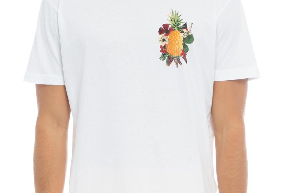 T- Shirt Abacaxi Floral Osklen