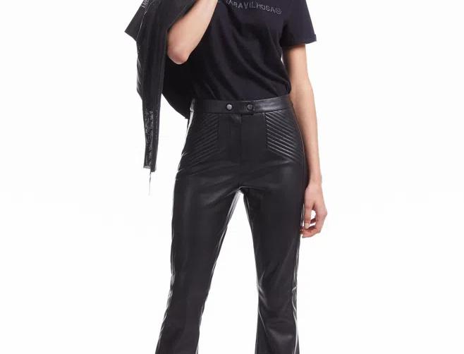 Flare Pants Like Leather Animale