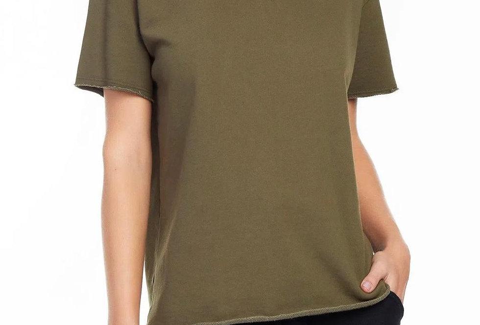 T-Shirt Moletom Over Verde Animale