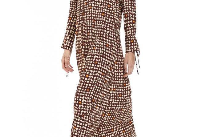 Vestido de Viscose Longo Estampado com Recorte Quadril Animale