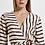 Thumbnail: Vestido Midi de Viscose Estampa listra Miraglia com recortes