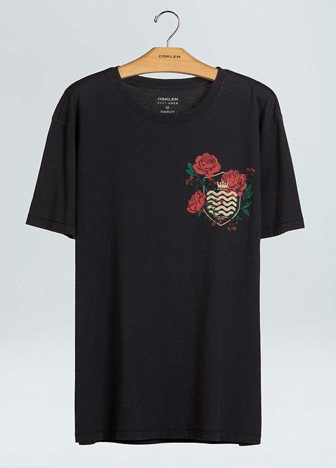 T-Shirt Osklen Soft Used Brasão Roses