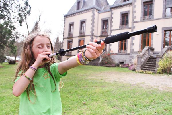 activité sarbacane pour les enfants au chateau de diège à Ussel