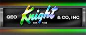 GEO Knight heat press logo