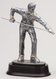 Male Billiard Player Resin Trophy