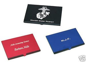 Anodized Aluminum Business Card Holder