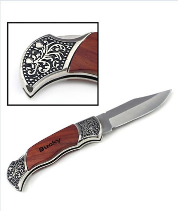 Rosewood Decogrip Hunting Knife