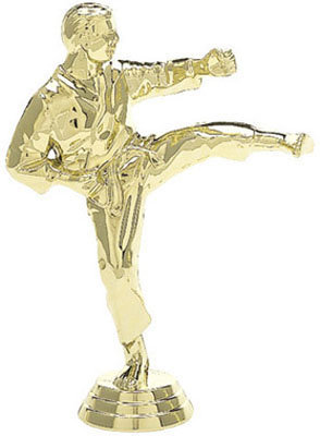 "4 1/4"",  Gold Plastic Male Karate"