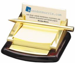 Post-it Note and Business Card Holder with Pen