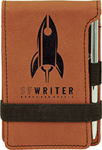 """3 1/4"""" x 4 3/4"""" Leatherette Mini Notepad with Pen"""