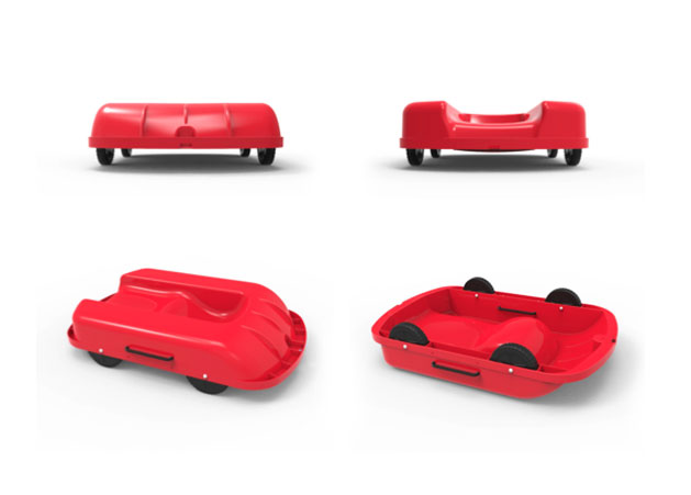 FlipSled: The Snow Sled with Wheels