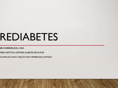 Pre-Diabetes: Explained by Lynn Connor, Registered Dietician