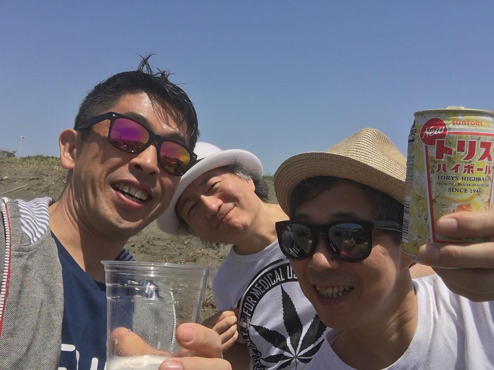 鈴木雄大さん、杉真理さんとカンパーイ!