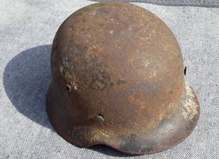 German Helmet from Occupied Channel Islands.