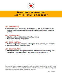 How does art-making aid the healing proc