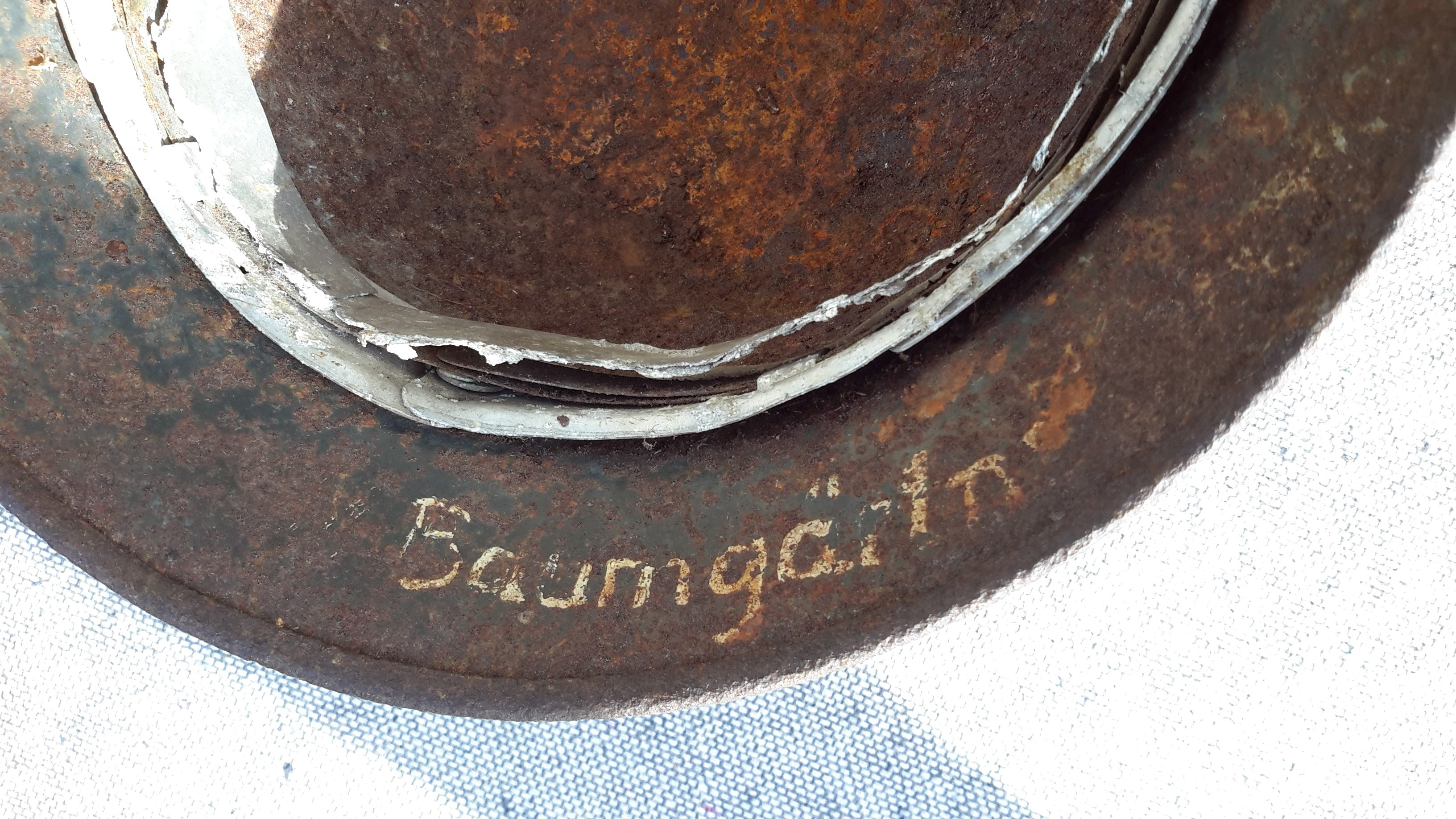 German Helmet Inner Name stamp