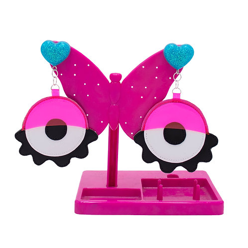 Eyeball Earrings - Pink