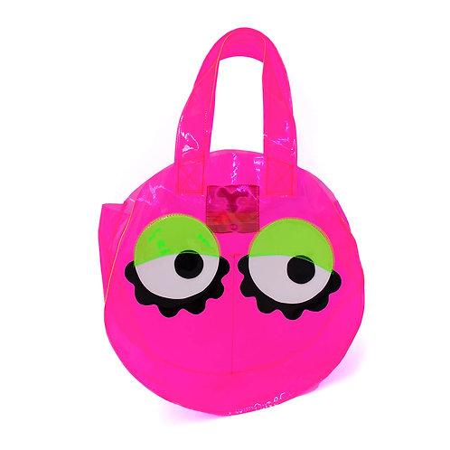 Round Vinyl Eyeball Bag - Pink