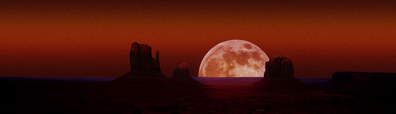 Monument Valley Moonrise