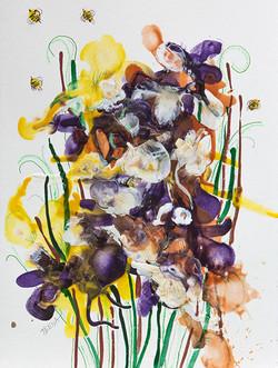 Irises Greeting Spring