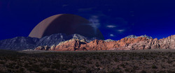 Red Rocks and Planet
