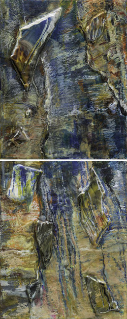 Once a Waterfall Diptych