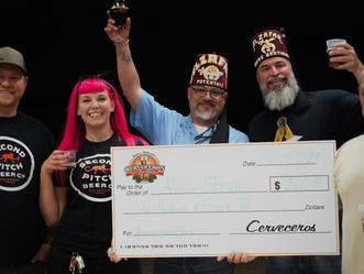 Second Pitch and Cerveceros raise $260 for Shriner's Children's Transportation fund with Pale-Palooz