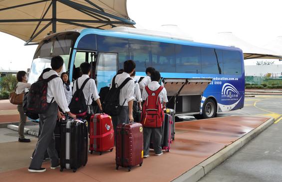 Balina arrives bus.jpg