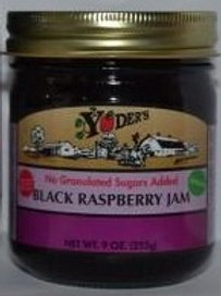 Homestyle Naturally Sweetened Seedless Black Raspberry Jam - 1/2 pint