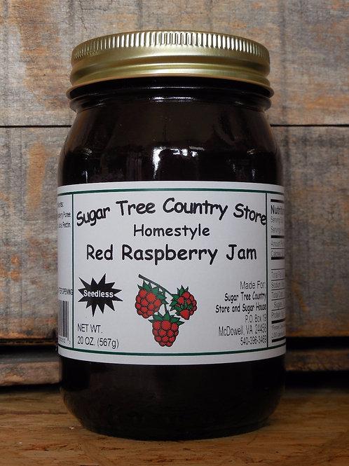 Homestyle Seedless Red Raspberry Jam - Pint
