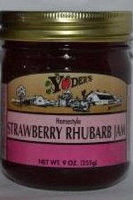 Homestyle Strawberry Rhubarb Jam - 1/2 pint