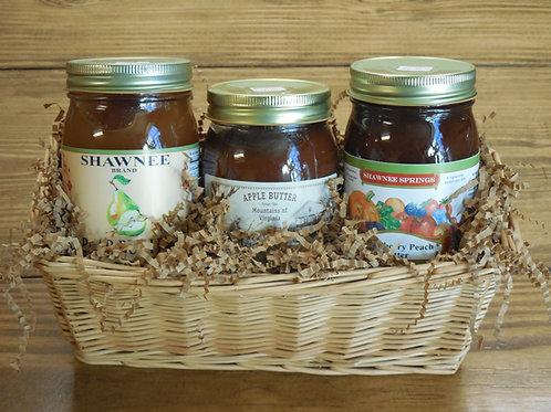 Fruit Butter Gift Basket-Large