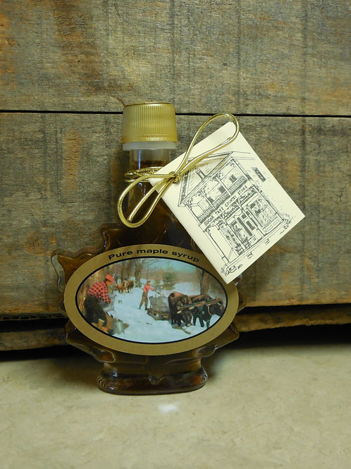 "Pure Maple Syrup(Grade ""A"" Amber Rich) - Glass Leaf 50 ml."
