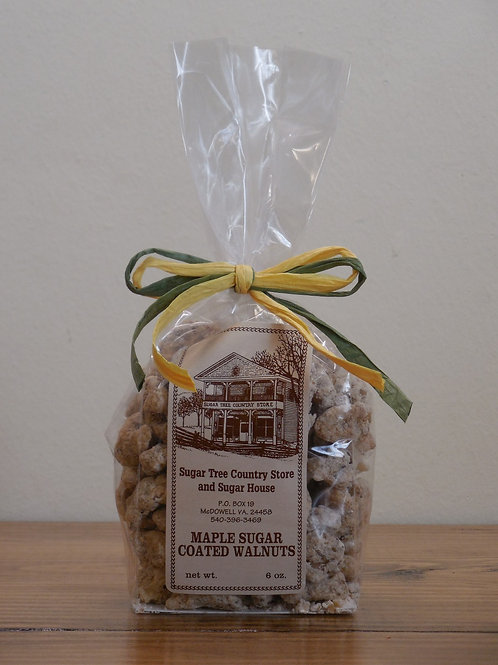 Maple Sugar Coated English Walnuts - 6 oz.